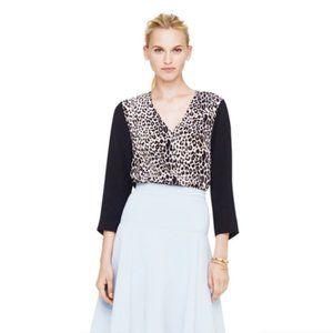 Club Monaco Krista leopard silk top - size xs